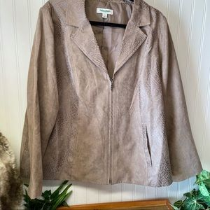 Studio Works faux suede light jacket brown 18W